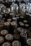 Chongqing Minsheng Logistics Beijing Branch Auto Parts Warehouse reserve car tires Stock Image