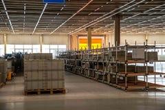 Chongqing Minsheng Logistics Beijing Branch Auto Parts Warehouse reserve car tires Royalty Free Stock Image