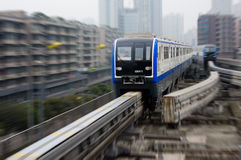 Chongqing monorail System Stock Image
