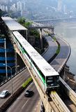 Chongqing monorail System Stock Photos