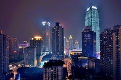 Chongqing na noite Fotografia de Stock Royalty Free