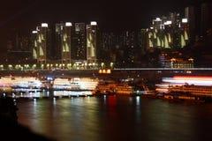 chongqing natt Arkivbild