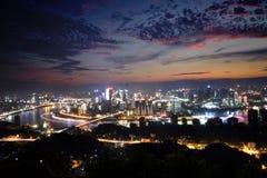 Chongqing natt Arkivfoton