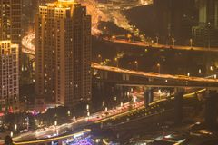 Chongqing night cityscape stock photography