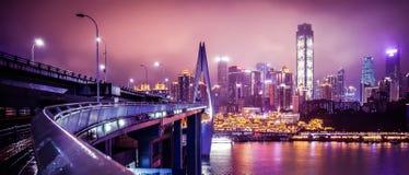 Chongqing by night stock image