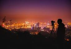Chongqing night scene. Photographing Chongqing night scene from faraway vantage points Royalty Free Stock Photography