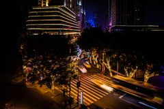 Chongqing night street royalty free stock photo