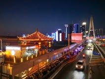 Chongqing noc Scenary Obrazy Royalty Free