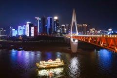 Chongqing noc Scenary Zdjęcie Stock