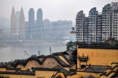 Chongqing och Yellow River i bakgrunden Royaltyfria Foton