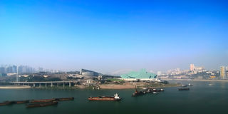 Chongqing port 2. A new chongqing port under the blue sky Stock Image