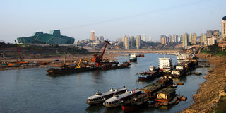 Chongqing port 4. A new chongqing port under the blue sky Royalty Free Stock Photo
