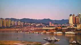 Chongqing port 5. A new chongqing port under the blue sky Stock Photography