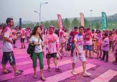 Chongqing Powystawowego centrum kolor biegający w młodzi ludzie Obrazy Stock