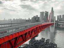 Chongqing Qiansimen Jialing River Bridge stock afbeelding