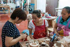 An Chongqing Rongchang pottery studio pottery museum craftsmen are producing Rongchang Tao Stock Photo