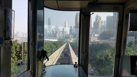 Chongqing-Schienendurchfahrt stock video footage