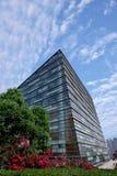Chongqing Science y pared de cristal del museo de la tecnología imágenes de archivo libres de regalías