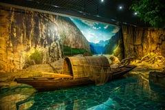 Chongqing Three Gorges Museum Three klyftamuseum av historieshowen den storartade Three Gorges för ` `en, Arkivfoto
