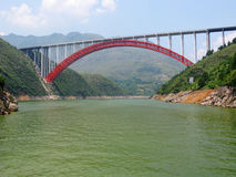 Chongqing Three Gorges scenery small highway bridge Royalty Free Stock Photo
