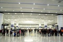 Chongqing West Railway Station Republic av Kina royaltyfria foton