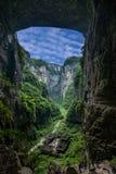 Chongqing Wulong naturlig bro Dragon Inn Landscape arkivbild