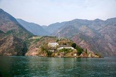 Chongqing Wushan Daning Trzy wąwozów Rzeczny Mały wąwóz Zdjęcia Stock