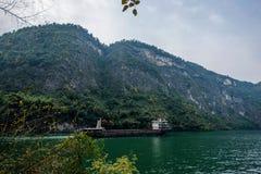 Chongqing Wushan Daning Trzy wąwozów Rzeczny Mały wąwóz Zdjęcie Stock