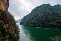 Chongqing Wushan Daning Trzy wąwozów Rzeczny Mały wąwóz Obrazy Stock