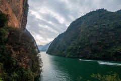 Chongqing Wushan Daning Trzy wąwozów Rzeczny Mały wąwóz Fotografia Stock
