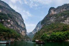 Chongqing Wushan Daning Trzy wąwozów Rzeczny Mały wąwóz Zdjęcia Royalty Free