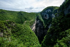 Chongqing Yunyang Longtan National Geological Park Canyon Landform. Chongqing Yunyang Longtan National Geopark is located in the fold belt between Huayingshan Stock Photography