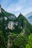 Chongqing Yunyang Longtan National Geological Park Canyon Landform. Chongqing Yunyang Longtan National Geopark is located in the fold belt between Huayingshan Royalty Free Stock Photo