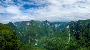 Chongqing Yunyang Longtan National Geopark Canyon Plank Road. Chongqing Yunyang Longtan National Geopark is located in the fold belt between Huayingshan fault Royalty Free Stock Images