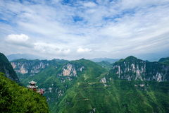 Chongqing Yunyang Longtan National Geopark Canyon Plank Road. Chongqing Yunyang Longtan National Geopark is located in the fold belt between Huayingshan fault Stock Images