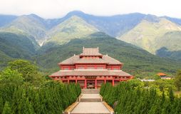 Chongshen buddistisk kloster Royaltyfri Foto
