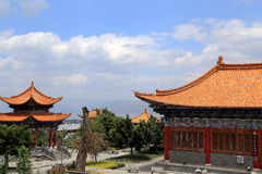 Chongshen temple and Three Pagodas in Dali. Yunnan province. China. Royalty Free Stock Images