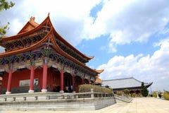 Chongshen temple and Three Pagodas in Dali. Yunnan province. China. Royalty Free Stock Photography