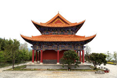 Chongshen temple and Three Pagodas in Dali. Yunnan province. China. Stock Photography