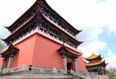 Chongshen temple and Three Pagodas in Dali. Yunnan province. China. Three Pagodas in Dali. Yunnan province. China Stock Images