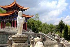 Chongshen temple and Three Pagodas in Dali. Yunnan province. China. Three Pagodas in Dali. Yunnan province. China Stock Photography