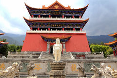 Chongshen temple and Three Pagodas in Dali. Yunnan province. China. Three Pagodas in Dali. Yunnan province. China. Photo taken on: April ,2015 stock image