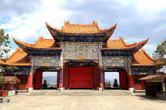 Chongshen temple and Three Pagodas in Dali. Yunnan province. China. Royalty Free Stock Images