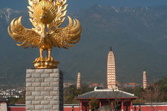 The Chongsheng temple and the three pagoda culture tourist area. Royalty Free Stock Photo