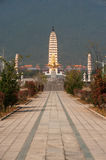 The Chongsheng temple and three pagodas culture tourist area. Stock Photo