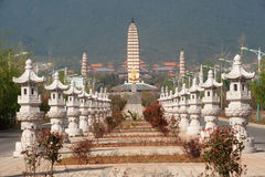 The Chongsheng temple and three pagodas culture tourist area. Royalty Free Stock Photo