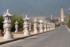 The Chongsheng temple and three pagodas culture tourist area. Royalty Free Stock Images
