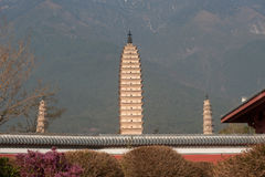 The Chongsheng temple and three pagodas culture tourist area. Stock Photos