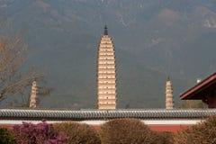 The Chongsheng temple and three pagodas culture tourist area. Stock Photos