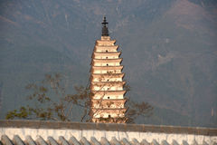 The Chongsheng temple and three pagodas culture tourist area. Royalty Free Stock Image